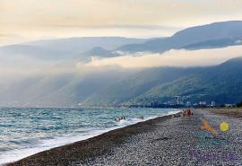 Пляж Алахадзы, Абхазия